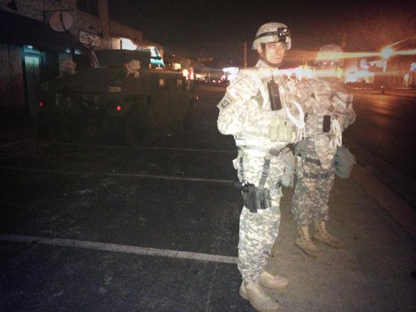 Missouri National Guard said they're here to protect people right to demonstrate