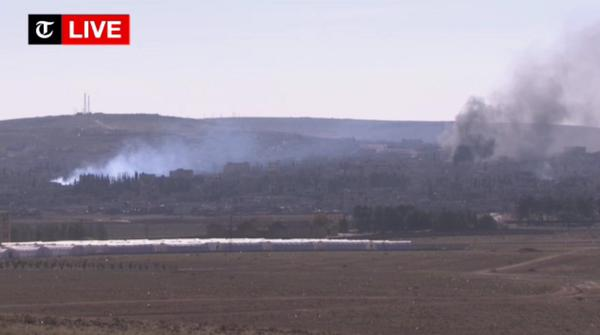 Kobane: Very heavy fighting now. Air strikes, VBIEDs, heavy shooting during IS attack reported.