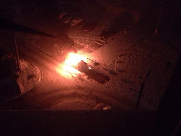 Two cars was burnt tonight in Kharkiv