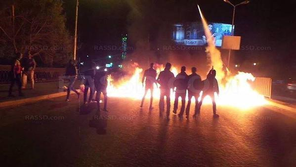 Clashes at Tahrir