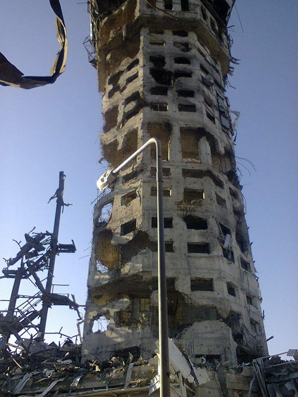 Donetsk Airport Control Tower (or whats left of it) The symbol of Ukraine defiance to Putin