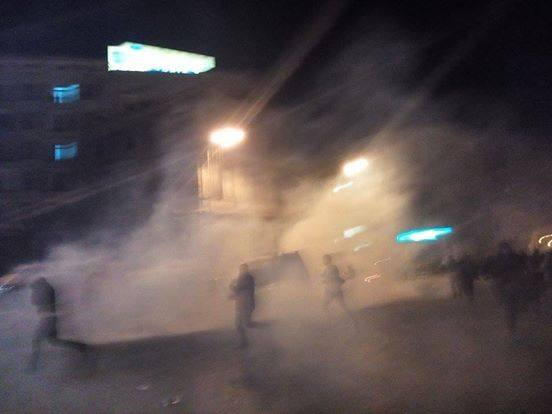 Egypt: Teargas being reported in Tahrir
