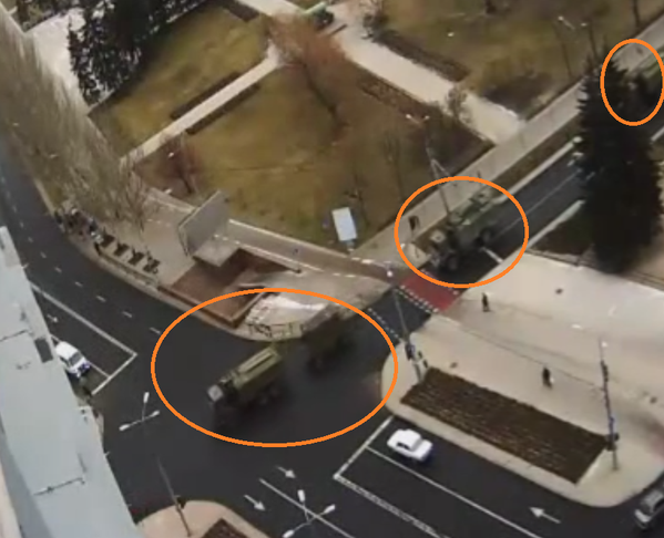 Russian army command and control unit in Donetsk city