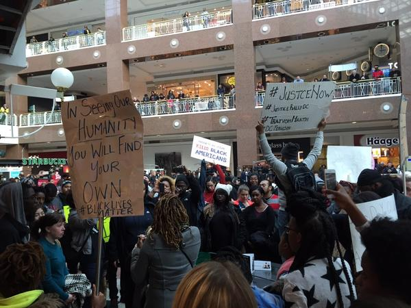 Rally in Pentagon City Mall