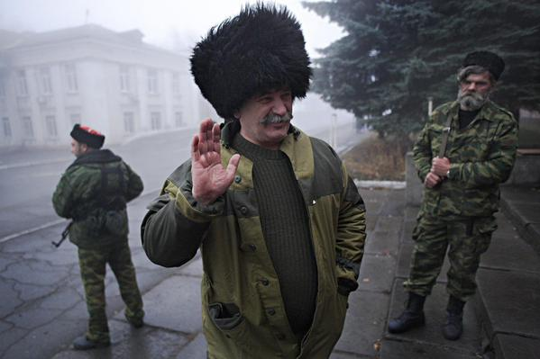 After shootout b/t sparring rebel militias, Ataman Nikolai Kozitsyn said sent back to Russia