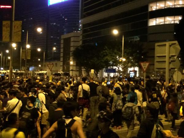 Another frontline at Citic tower. OccupyHK