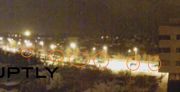 A Russian MLRS column just passed the RT cam towards northern Donetsk city