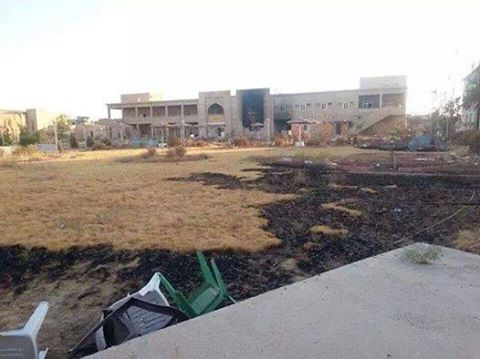 The College of Pharmacy at the University of Tikrit after clashes.