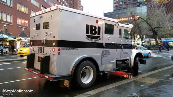 The police are all over Union Square. Here's a photo of an armored services vehicle. EricGarner ShutItDown