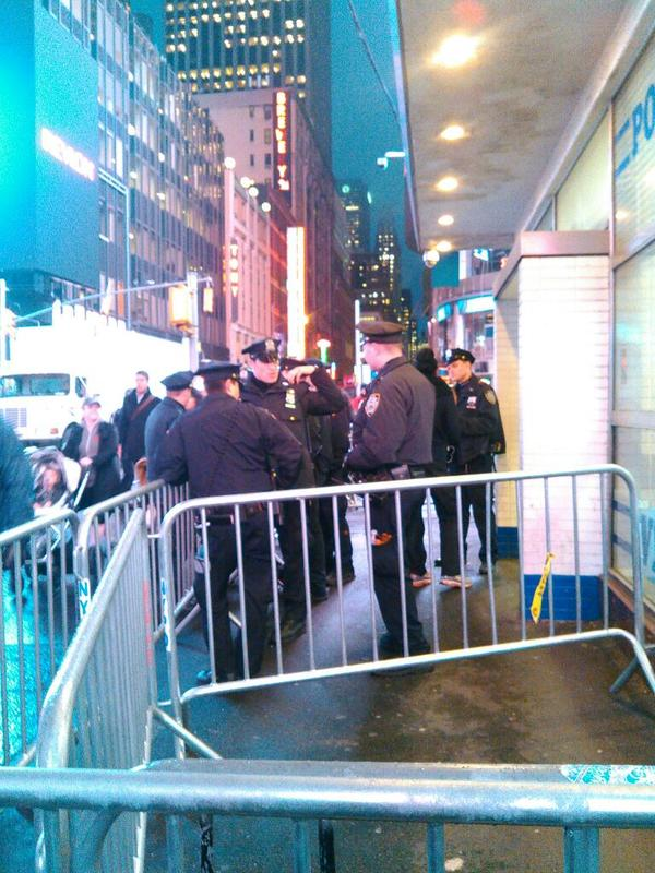 Heavy police presence in Times Square in anticipation of EricGarner protests.