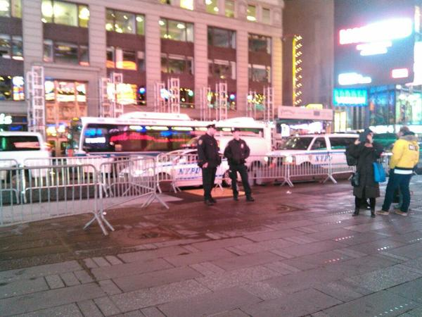 Times Square is barricaded EricGarner