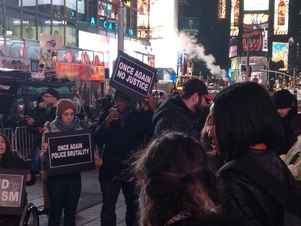NYC Protest at Times Square