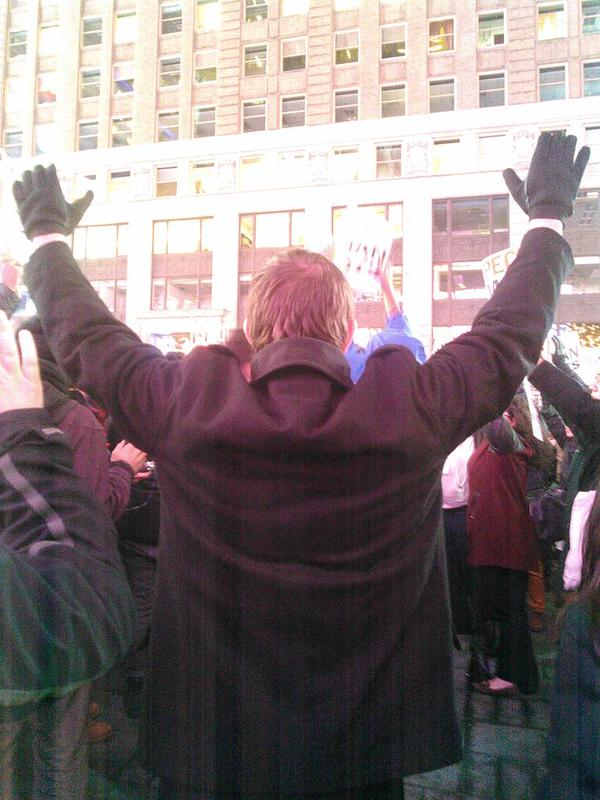 Moment of silence for the dead. Times Square goes quiet all of the sudden ericgarner