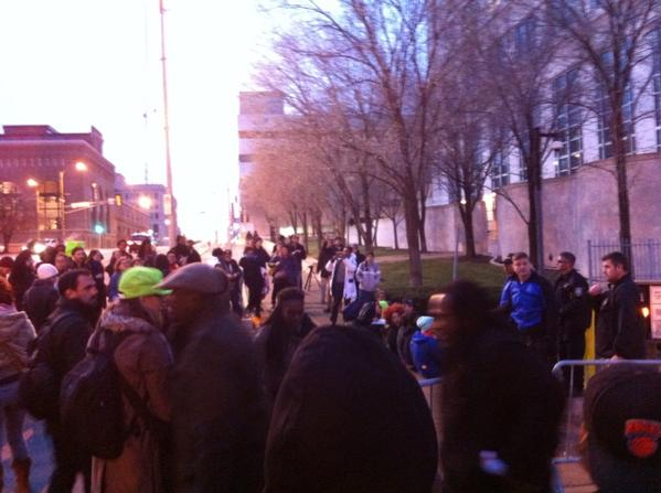 Rally near St. Louis courthouse