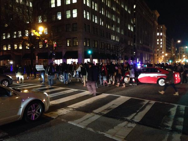Protestors in DC marching down 15th street chanting EricGarner