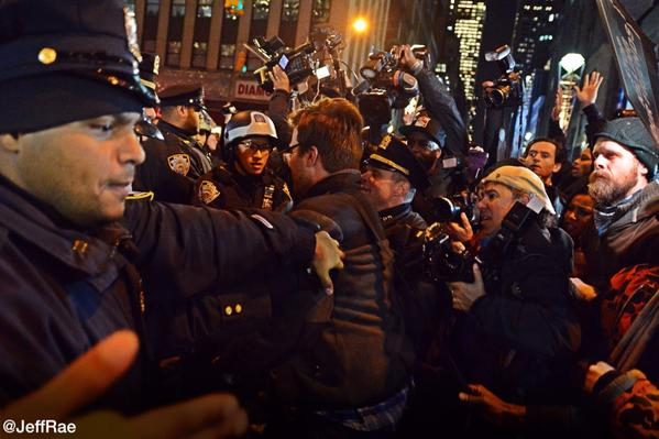 Police making snatch and grab arrests of protesters EricGarner