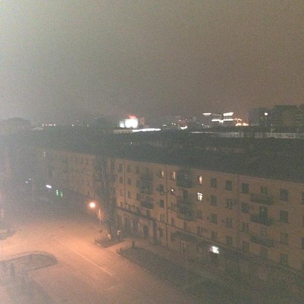 Press House in Grozny is burning now