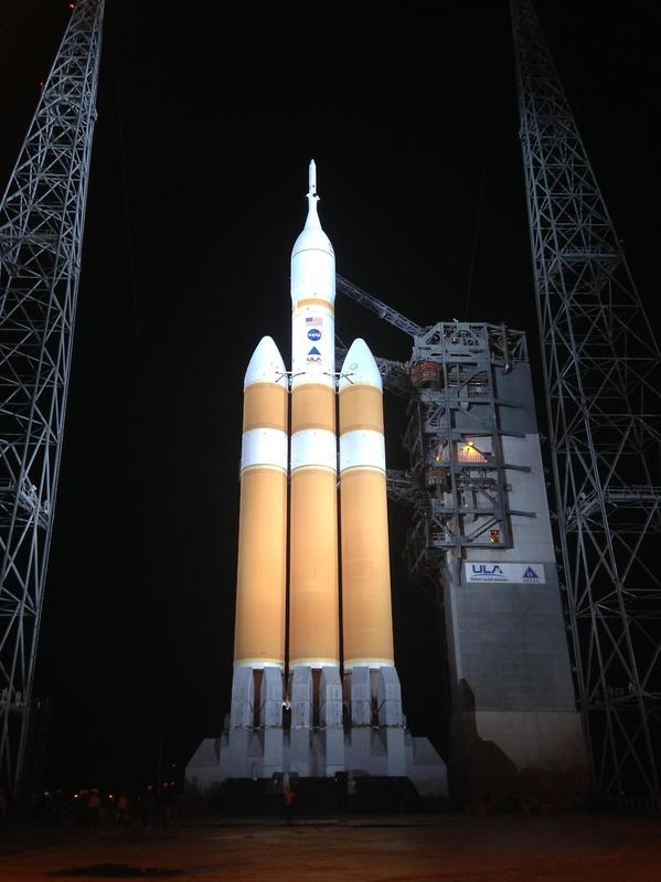 Countdown and fueling going well for the Delta 4-Heavy and Orion. Weather remains 70% GO