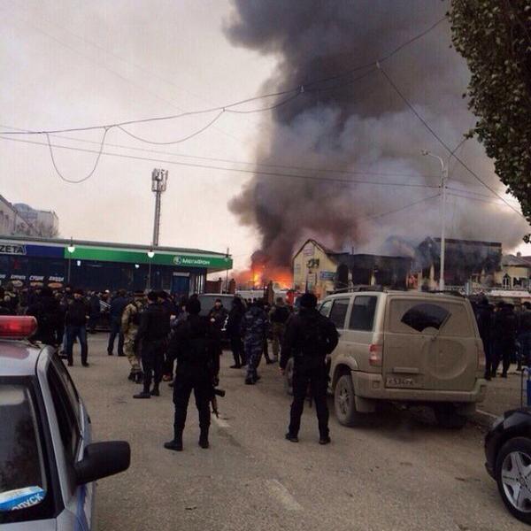 Fire in Grozny