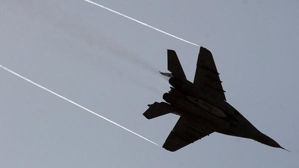 The MiG-29 crashed in the suburbs of Moscow, pilots wounded