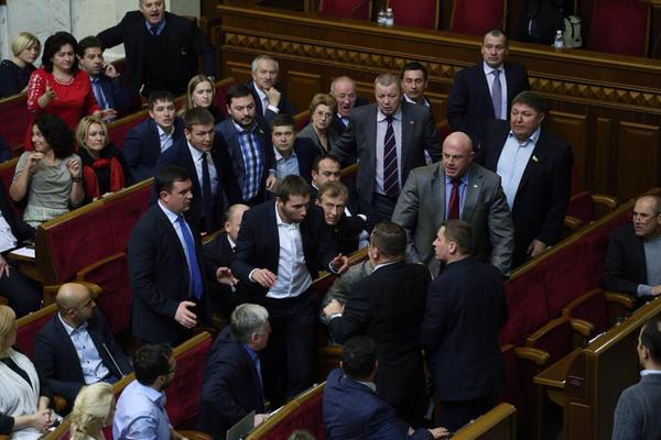 The first fight in the Parliament