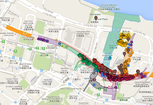 As of Tuesday, there are 2,091 tents at Occupyhk Admiralty camp