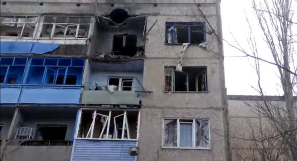 Kirovsk under fire. Shells hit civil houses