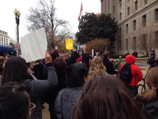 Protest at US Dept of Justice EricGarner