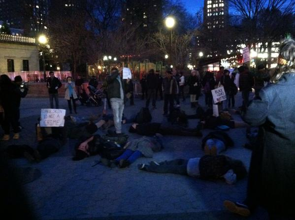Protesters stage a die in at Union Square EricGarner