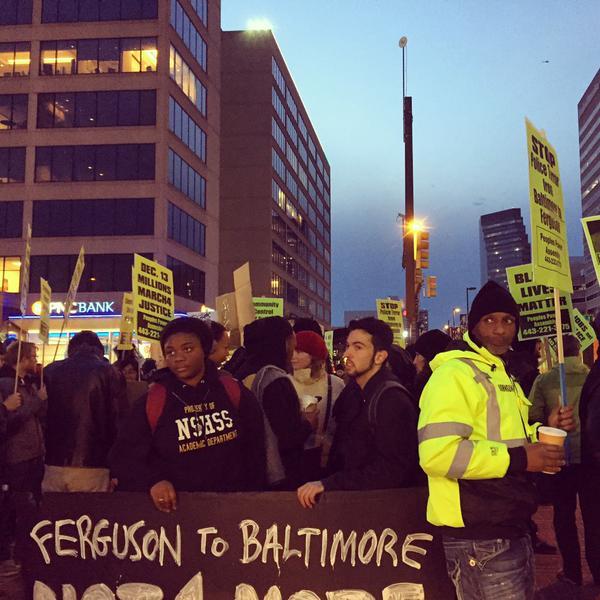 Baltimore gathers at Mckeldin Square for EricGarner
