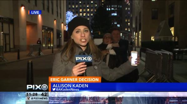 A white couple interrupted a NYC newscast to mock the chokehold that killed Eric Garner