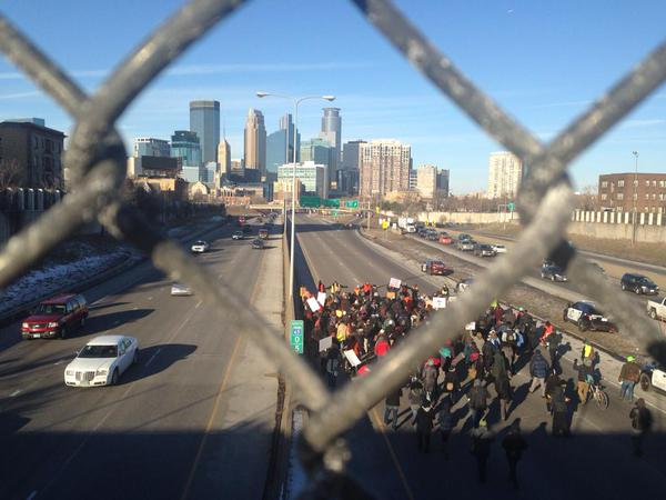 35W in Minneapolis shut down by protest EricGarner