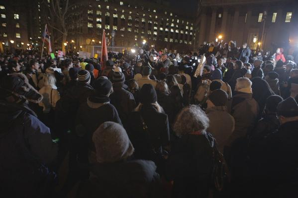 Hundreds of protesters gathered at Foley Square in Lower Manhattan right now to demonstrate for EricGarner.