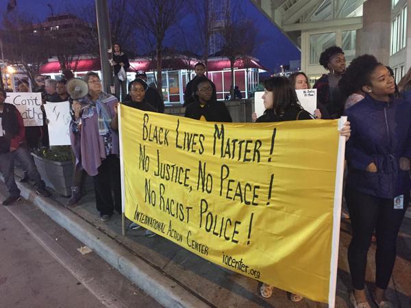 At Atlanta's protest over no police indictment of ericgarner killing. BlackLivesMatter