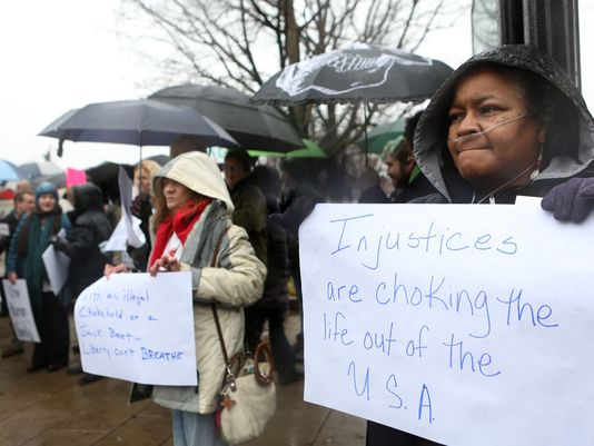 Louisville group protests EricGarner and Ferguson race cases