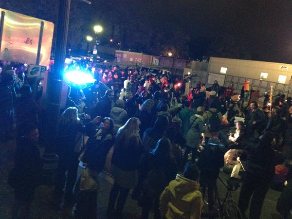 DCFerguson just blocked police car on Constitution Ave EricGarner