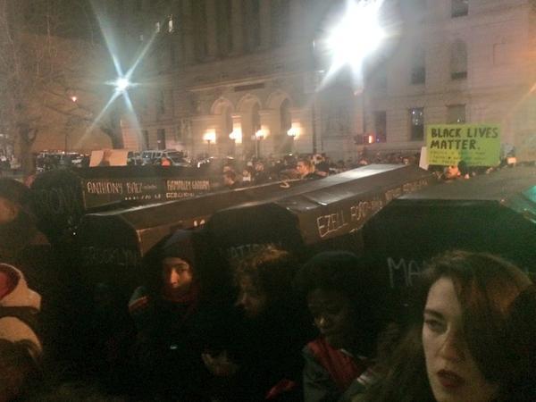 Caskets will lead march with families across Brooklyn Bridge