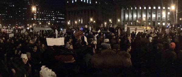 Thousands out in FoleySquare tonight for EricGarner protests
