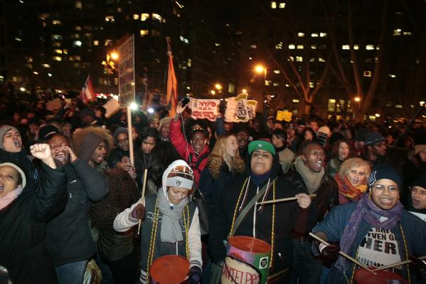 EricGarner protestors move through lower Manhattan