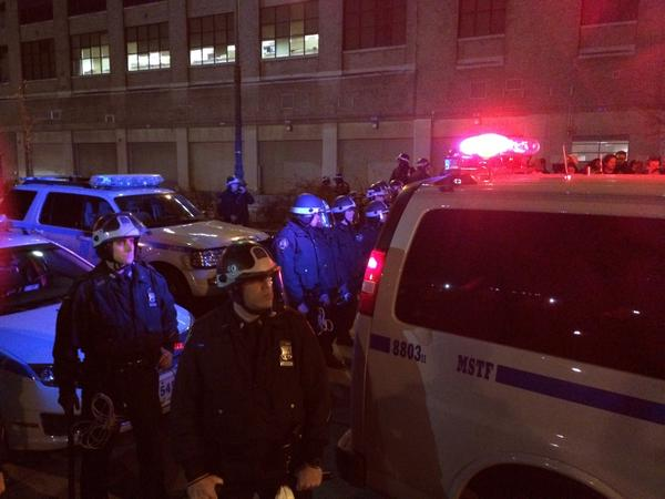 NYPD just gave order to exit roadway or be arrested