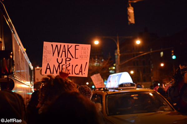 West Side Highway march continues after getting by police line ICantBreathe EricGarner