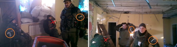 After the latest Russian_Army convoys,3/4 DNR men, attacking Donetsk airport, wear white again.