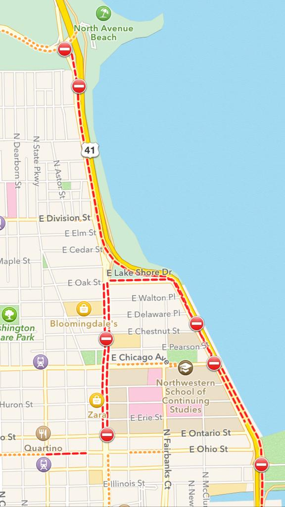 This map gives you a good idea how much of Chicago's roadways were cut off by the justice for EricGarner demo