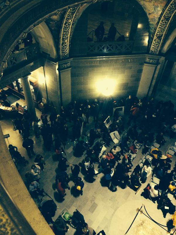 Protestors gather for NAACP rally in MO State Capitol rotunda JourneyforJustice