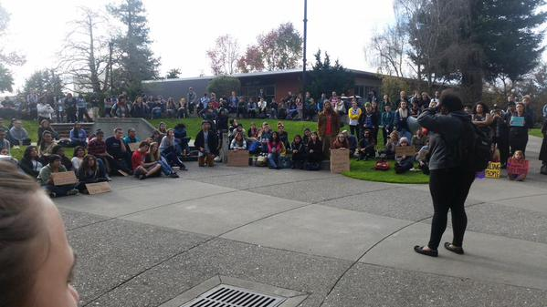This is not a riot,  it is a protest @humboldtstate