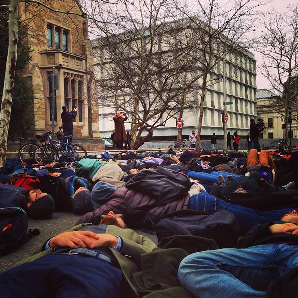 Unidad Latina en Accion in solidarity today in Yale Law School