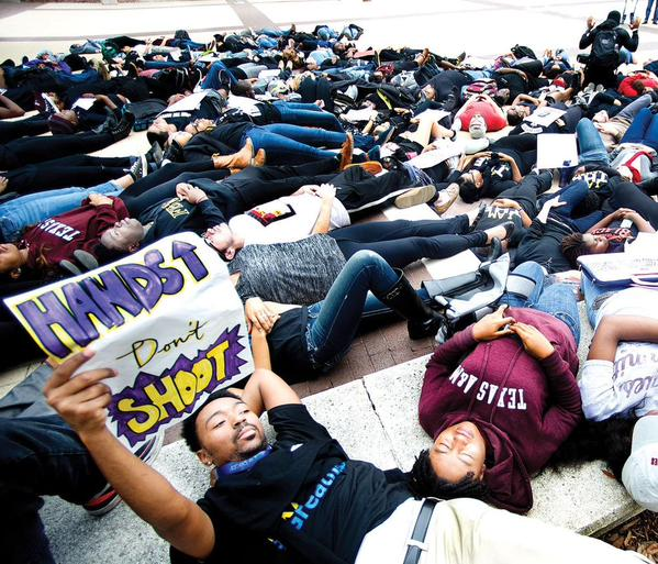 EricGarner protests make their way to Texas A&M campus