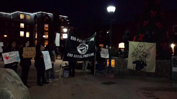 Protesting in downtown Flagstaff a Aspen & Leroux EricGarner