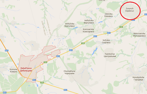 There is a heavy exchange of Grad missiles,artillery + small arms between Zoryns'k and Debal'tseve.