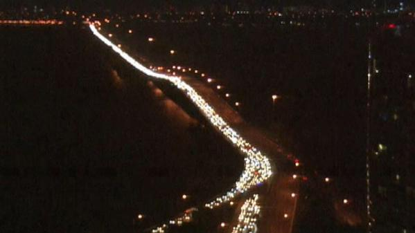 Miami I-95 Shut Down during ArtBasel protest